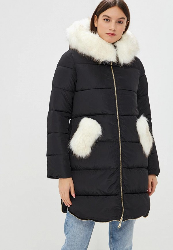 Куртка утепленная Z-Design Z-Design ZD002EWDCAV6 black sexy lace up design plain halter sleeveless crop top