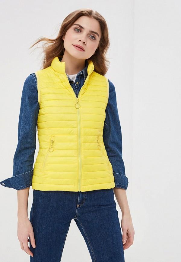 женский жилет z-design, желтый