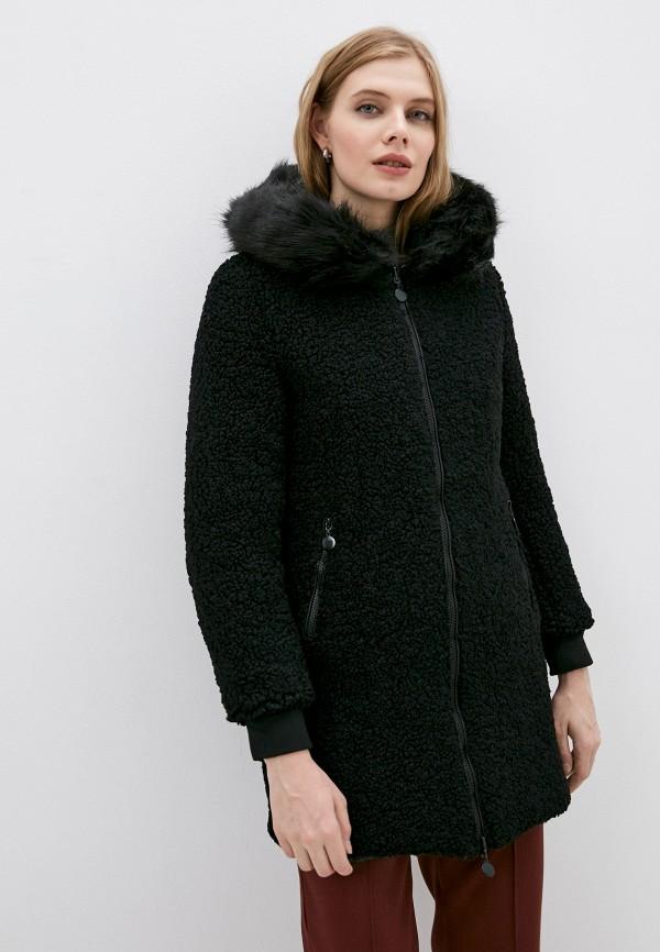 женская шуба z-design, черная