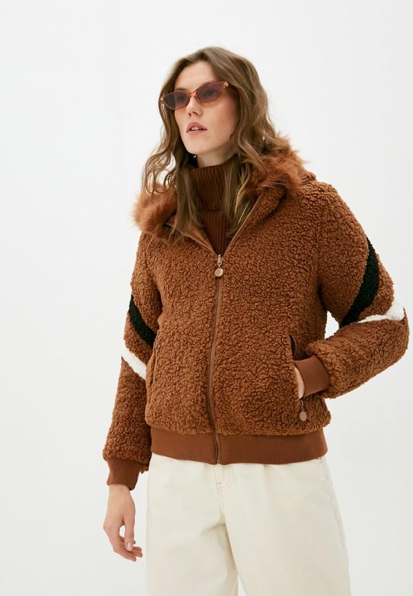 женская куртка z-design, коричневая