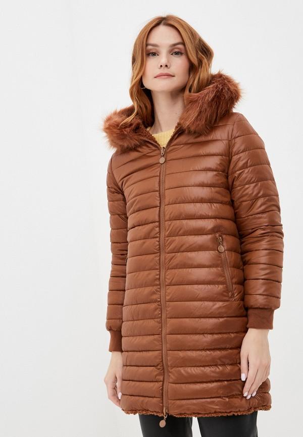 женская шуба z-design, коричневая