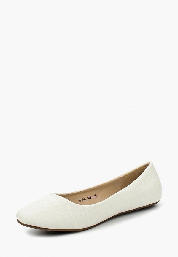 женские балетки zenden, белые
