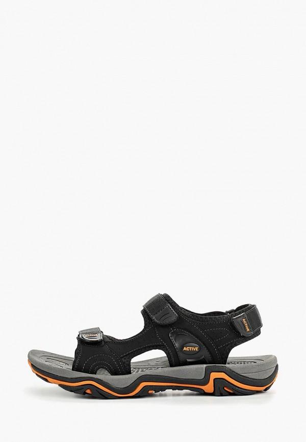 мужские сандалии zenden active, черные