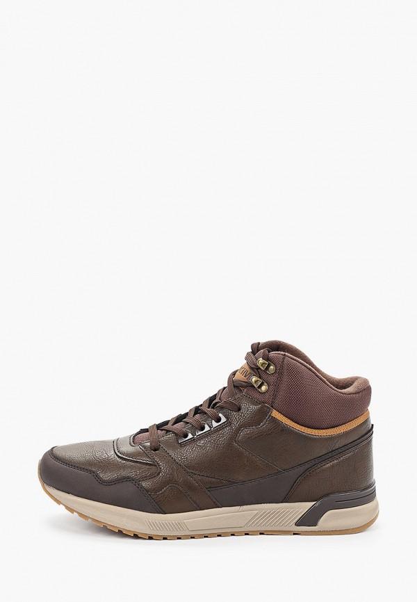 мужские высокие кроссовки zenden active, коричневые