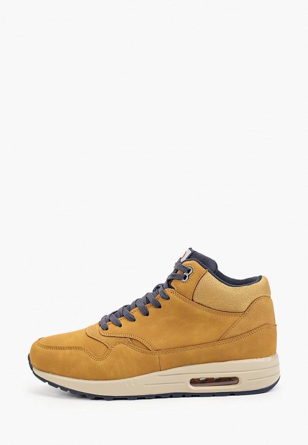 мужские низкие кроссовки zenden active, коричневые