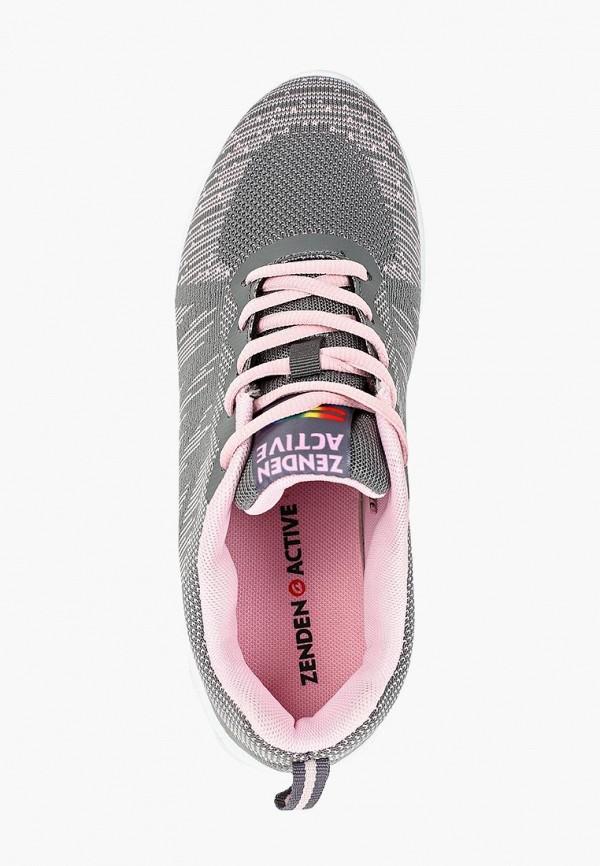 Фото 4 - женские кроссовки Zenden Active серого цвета