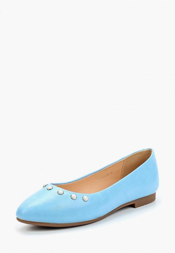 женские балетки zenden woman, голубые