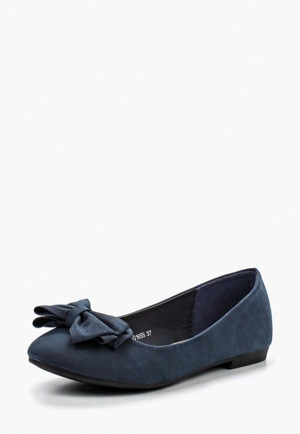 женские балетки zenden woman, синие