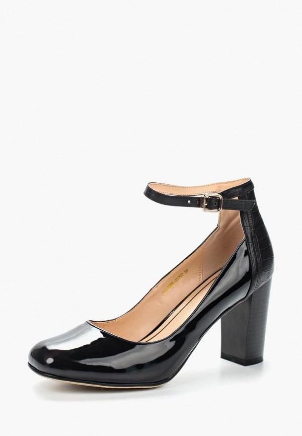 Фото 7 - женские туфли Zenden Woman черного цвета