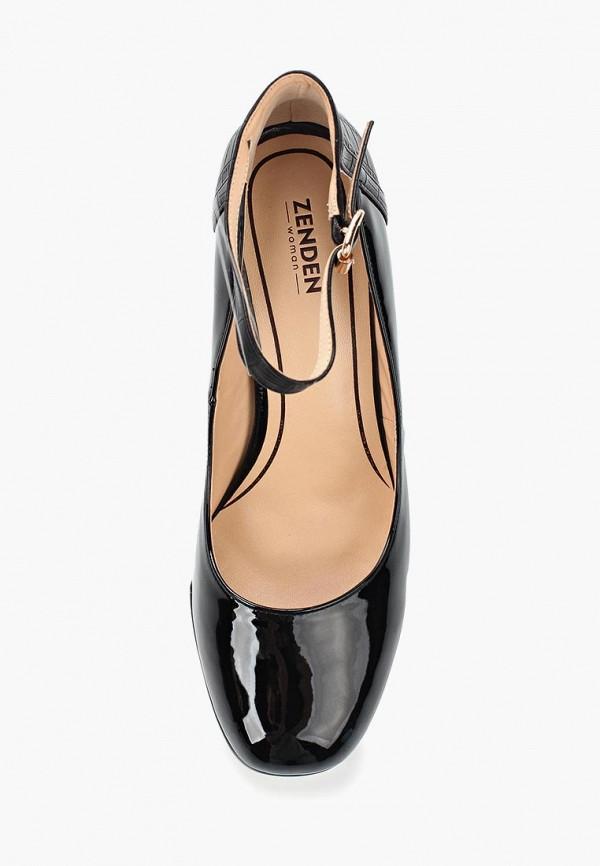 Фото 4 - женские туфли Zenden Woman черного цвета