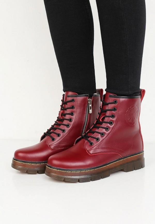 Фото 5 - женские ботинки и полуботинки Zenden Woman бордового цвета