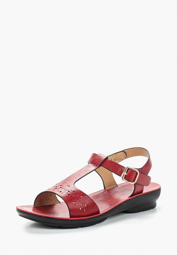 женские сандалии zenden comfort, красные