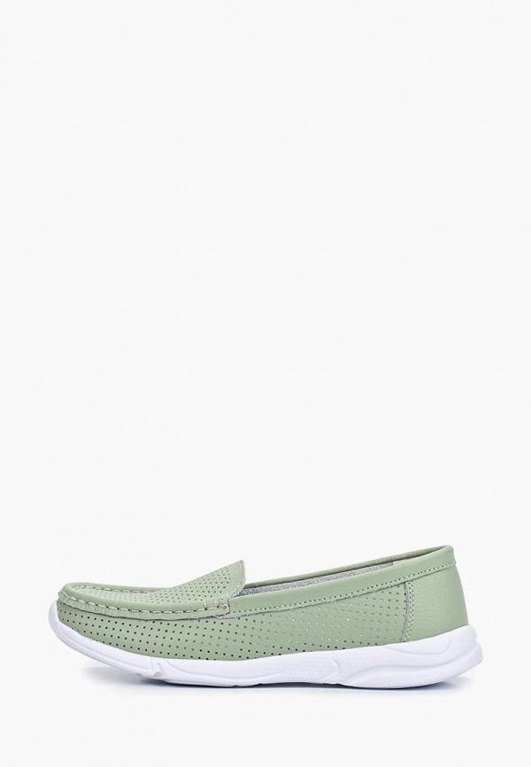 женские мокасины zenden comfort, зеленые