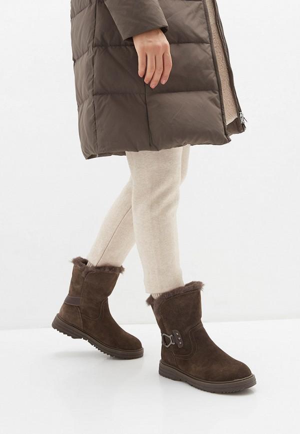 Фото 7 - женские полусапоги Zenden Comfort коричневого цвета