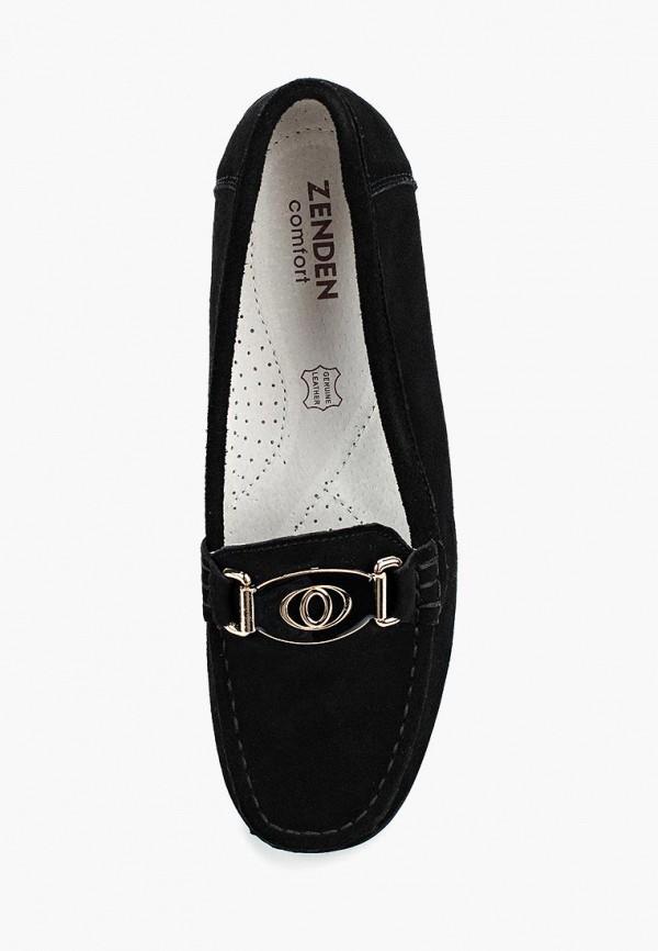 Фото 9 - женские мокасины Zenden Comfort черного цвета