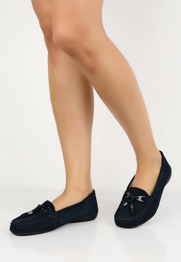 Фото 15 - женские мокасины Zenden Comfort синего цвета