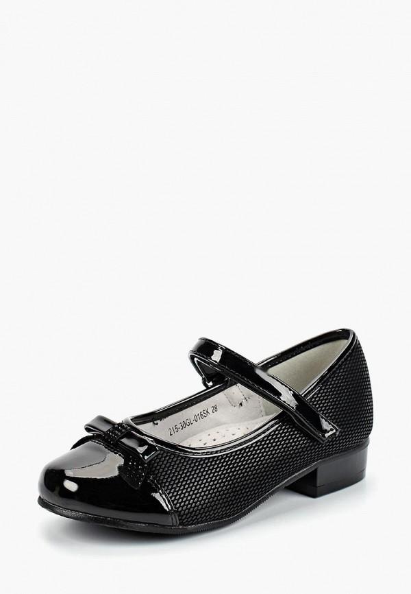 туфли zenden collection для девочки, черные