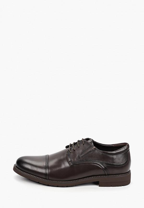 мужские туфли zenden collection, коричневые