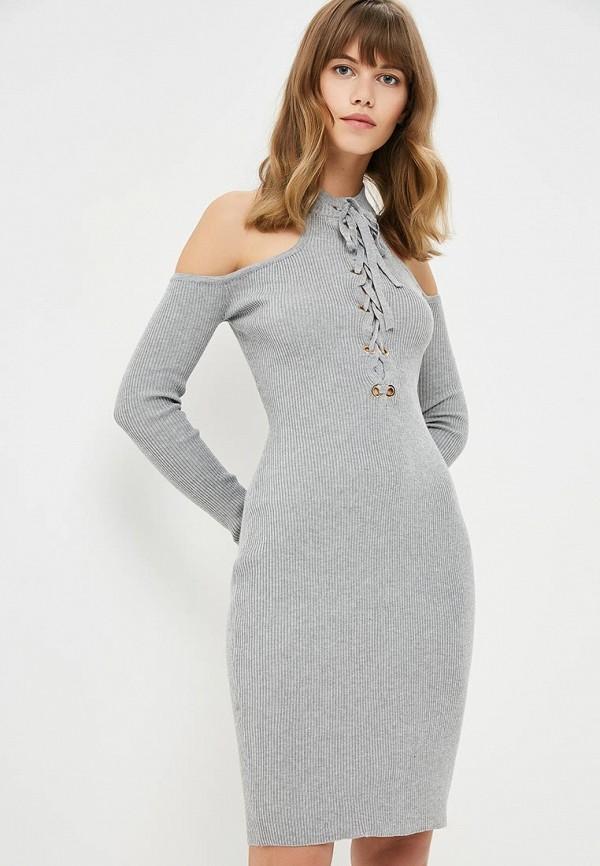 женское повседневные платье zeza, серое