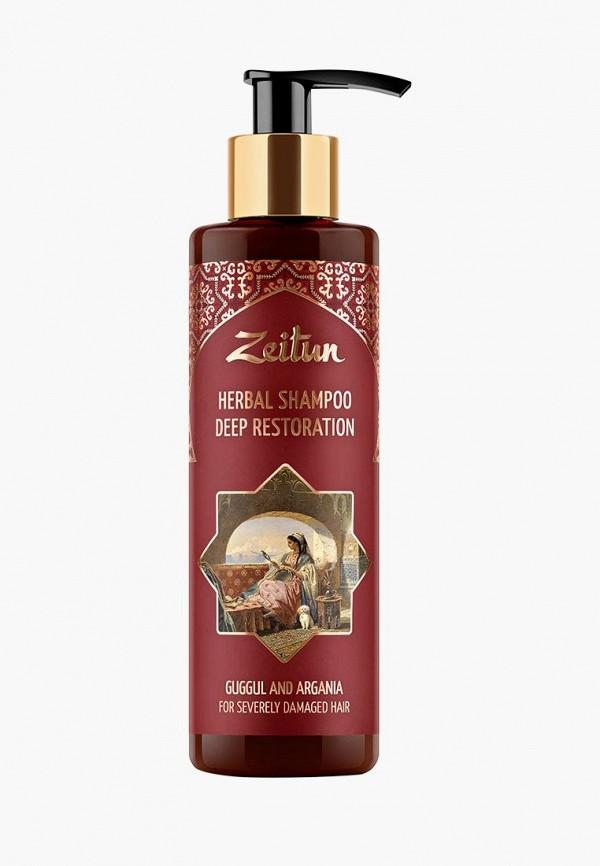 Купить Шампунь Zeitun, Глубоко восстанавливающий для сильно поврежденных волос. С арабским миртом и арганой, 200 мл, ze015lwbxyz6, прозрачный, Весна-лето 2019