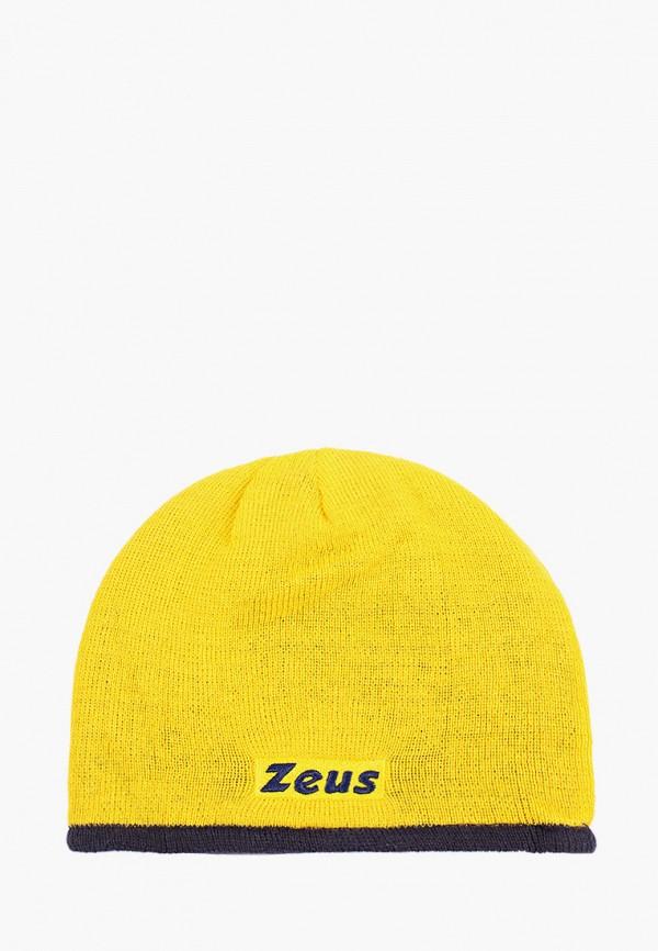женская шапка zeus, желтая