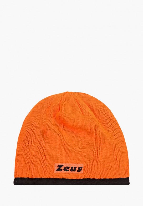 женская шапка zeus, оранжевая
