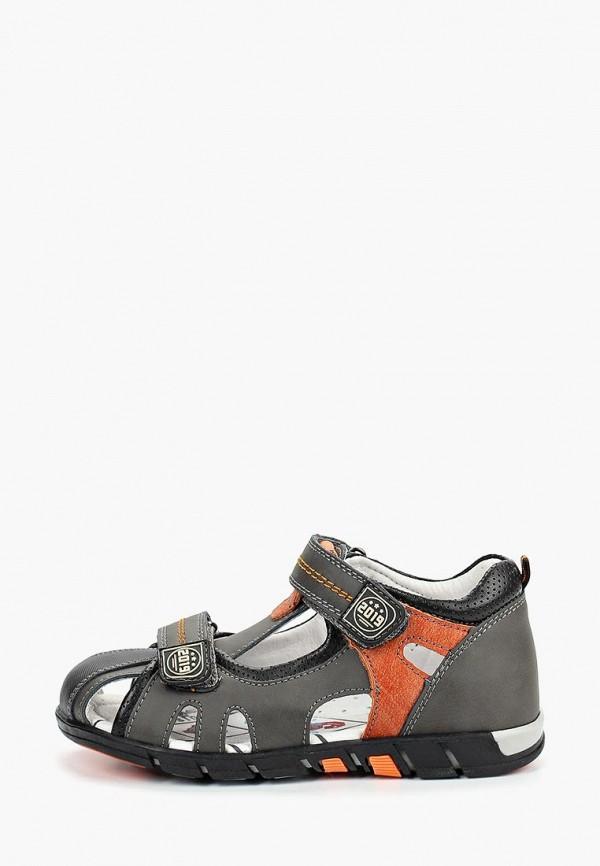 сандалии зебра для мальчика, серые