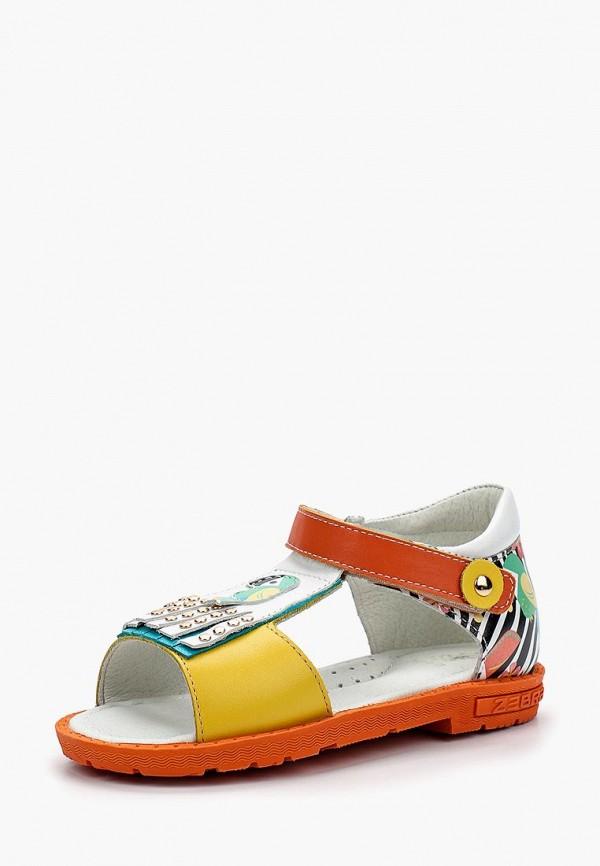 сандалии зебра для девочки, разноцветные