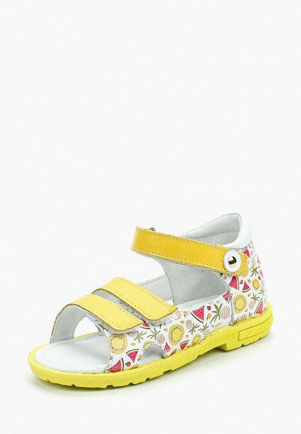 сандалии зебра для девочки, желтые