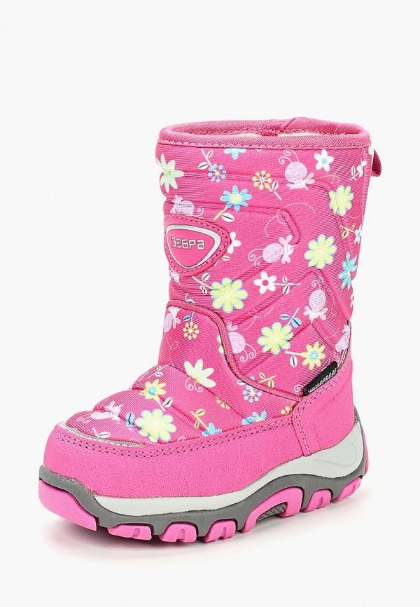 сапоги зебра для девочки, розовые