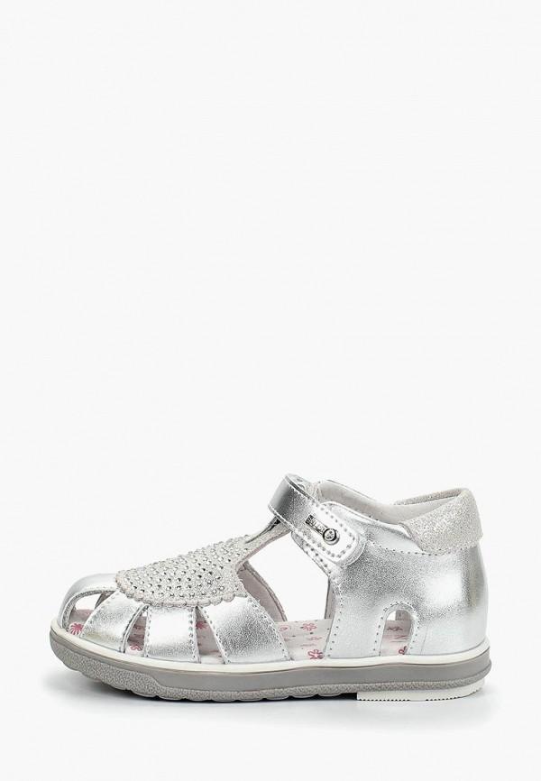 сандалии зебра для девочки, серебряные