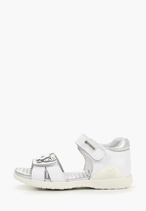 сандалии зебра для девочки, белые