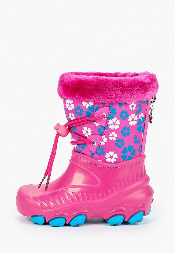 резиновые сапоги зебра для девочки, розовые