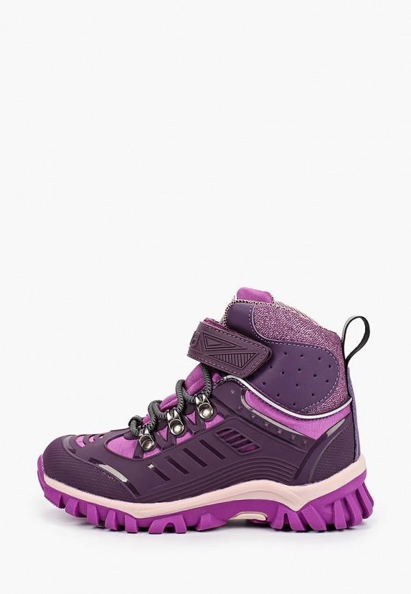 ботинки зебра для девочки, фиолетовые