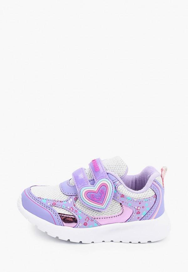 кроссовки зебра для девочки, фиолетовые