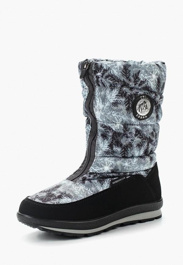 Купить Дутики Зебра, ze218agzfu28, серый, Осень-зима 2017/2018