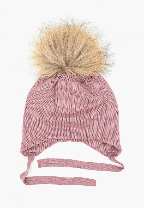 шапка zemsa для девочки, фиолетовая