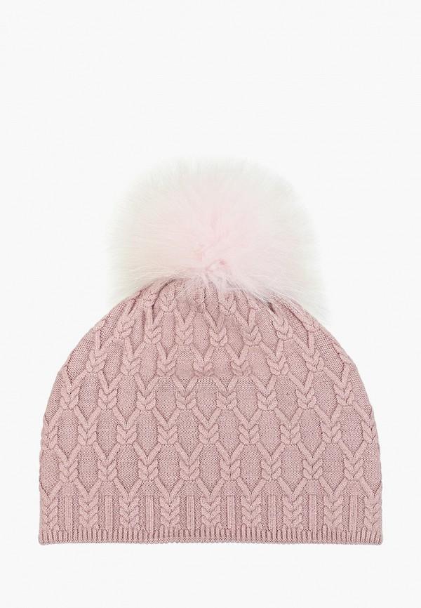 шапка zemsa для девочки, розовая