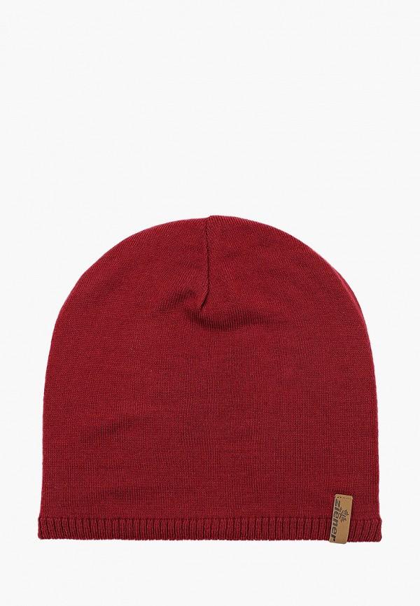 мужская шапка ziener, бордовая