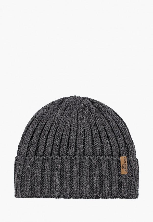мужская шапка ziener, серая