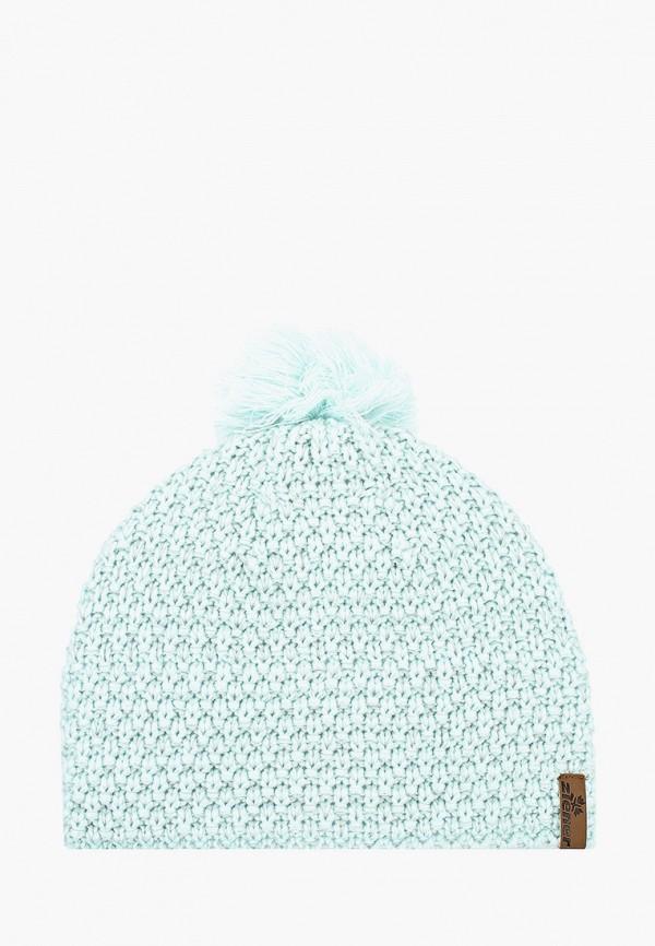 женская шапка ziener, бирюзовая