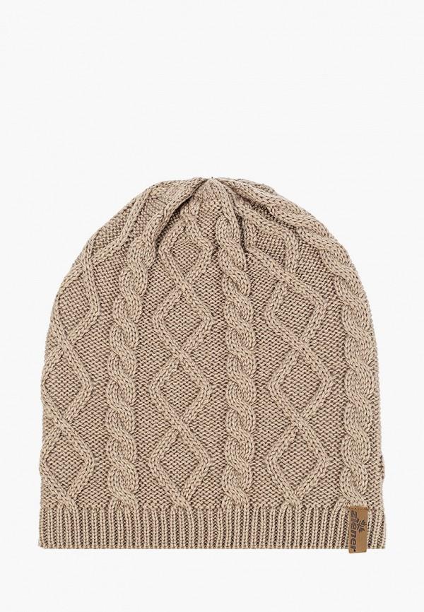 женская шапка ziener, коричневая