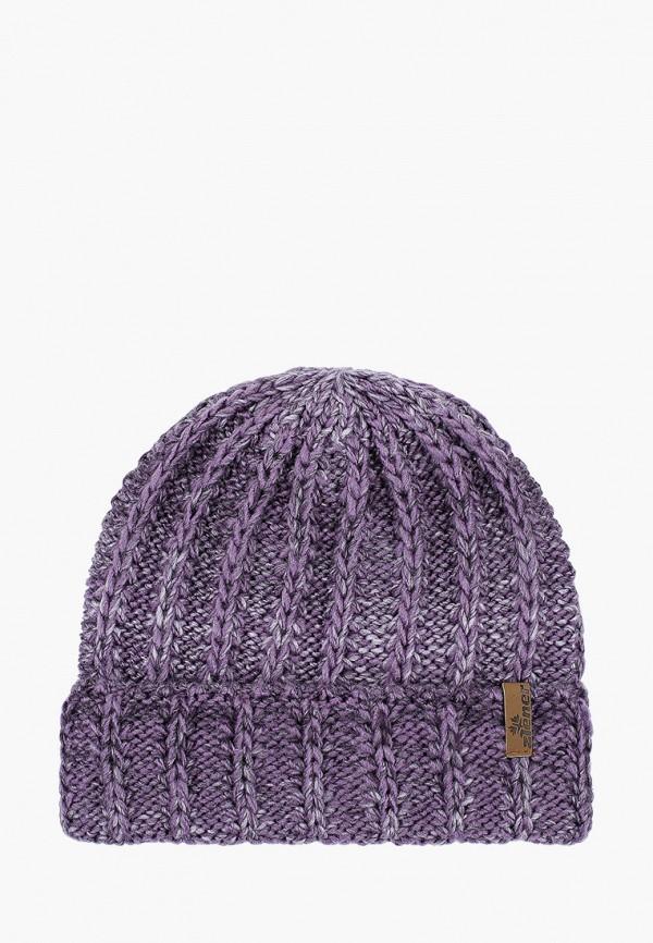 женская шапка ziener, фиолетовая