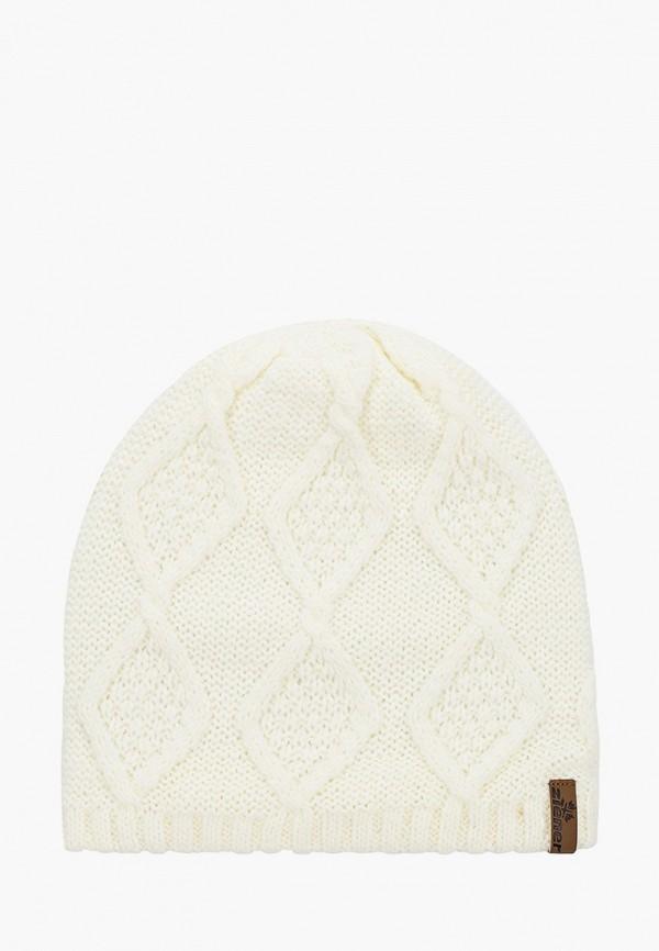 женская шапка ziener, белая