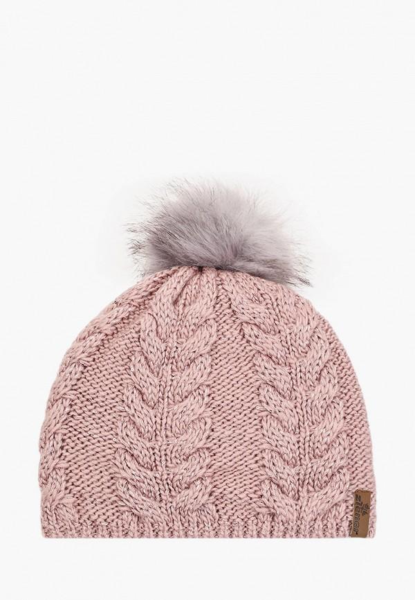женская шапка ziener, розовая