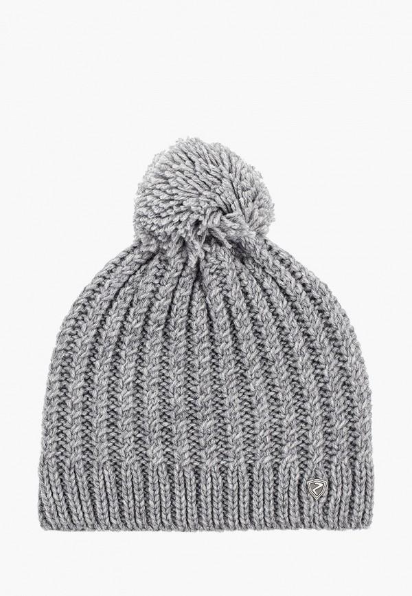 женская шапка ziener, серая