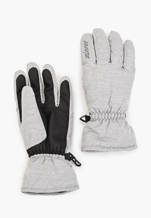 женские перчатки ziener, серые