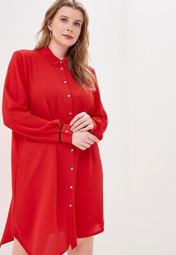 женское повседневные платье zizzi, красное