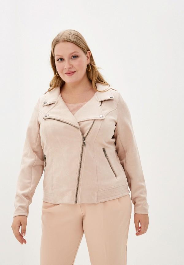 Фото - женскую куртку Zizzi бежевого цвета