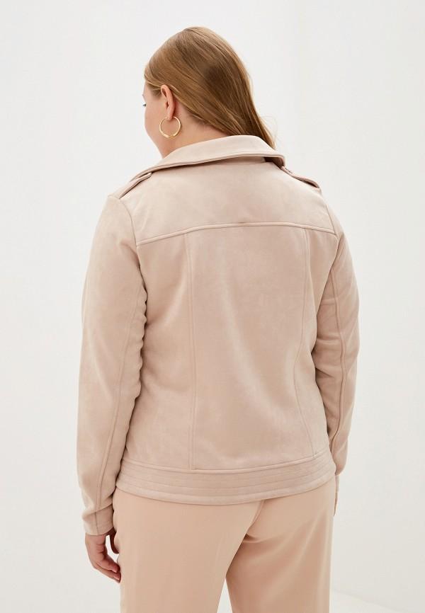 Фото 3 - женскую куртку Zizzi бежевого цвета
